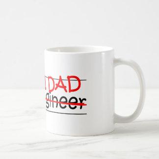Engenheiro civil do pai do trabalho caneca de café