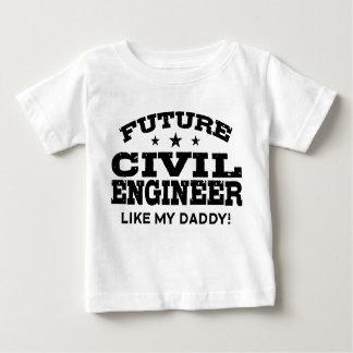 Engenheiro civil futuro camiseta para bebê