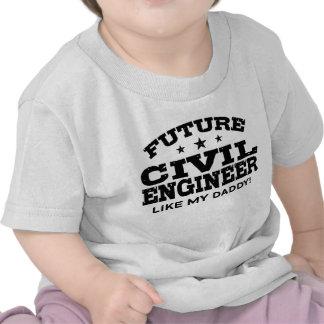Engenheiro civil futuro tshirts