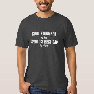 Engenheiro civil pai do mundo do dia pelo melhor t-shirt