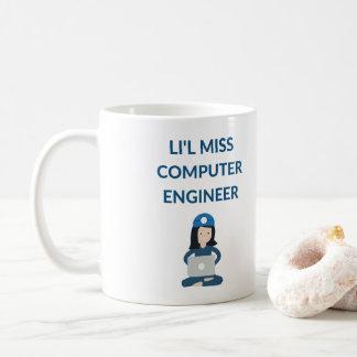 Engenheiro da senhorita computador de Li'l, caneca