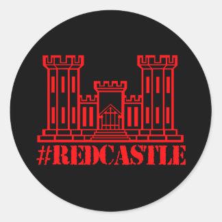 Engenheiro de combate do #Redcastle (grande Adesivo Redondo