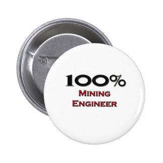 Engenheiro de mineração de 100 por cento boton
