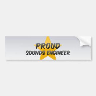Engenheiro de sons orgulhoso adesivo