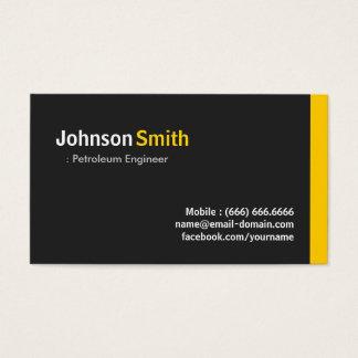 Engenheiro do petróleo - âmbar minimalista moderno cartão de visitas