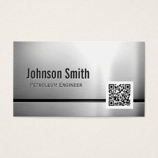 Engenheiro do petróleo - código de aço inoxidável cartão de visitas