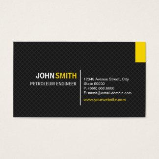 Engenheiro do petróleo - grade moderna da sarja cartão de visitas