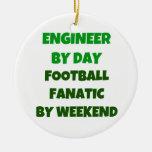 Engenheiro pelo fanático do futebol do dia em o fi enfeite para arvore de natal