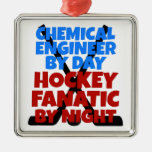 Engenheiro químico do amante do hóquei enfeite