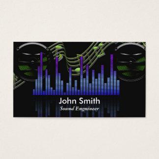 Engenheiro sadio ou estúdio freelance do produtor cartão de visitas