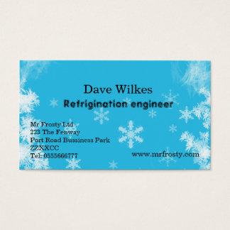 Engodo do ar e cartão de visita do engenheiro do