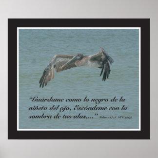 Engodo Pelicano do 17:8 de Salmos (cartel) Poster