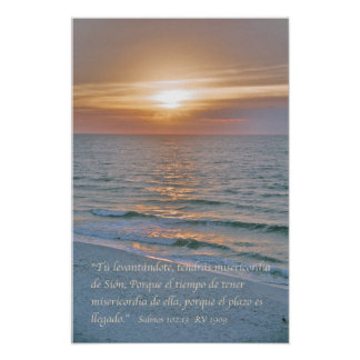 Engodo Puesta del Solenóide do 102:13 de Salmos Poster