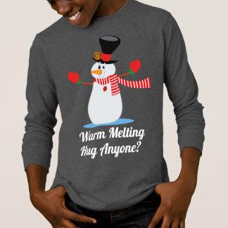 Engraçado aqueça a camisa da luva do Natal | do