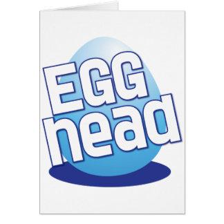 engraçado calvo da páscoa principal do ovo cartão comemorativo