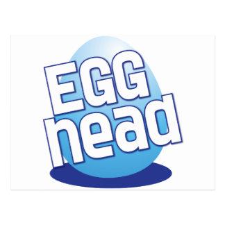 engraçado calvo da páscoa principal do ovo cartão postal