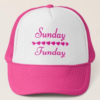 Engraçado cor-de-rosa de domingo Funday Boné