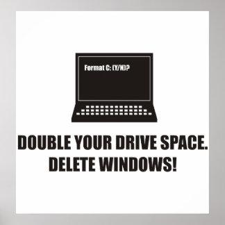 Engraçado - dobre seu espaço da movimentação. Supr Posteres
