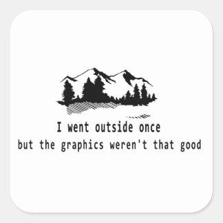 Engraçado foi o jogo do computador dos gráficos da adesivo quadrado