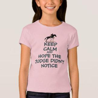 Engraçado mantenha a camiseta calma do cavalo