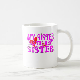Engraçado minha irmã tem a melhor irmã canecas