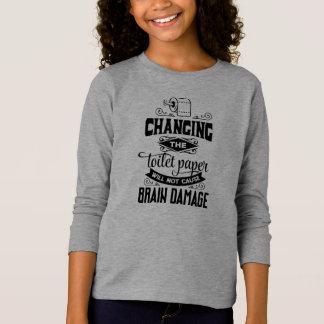 Engraçado mudando a camisa da luva da piada do