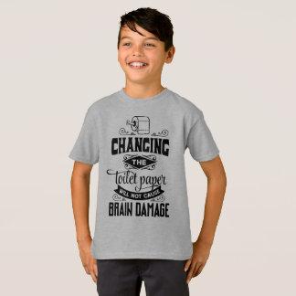 Engraçado mudando a camisa de Tagless da piada do