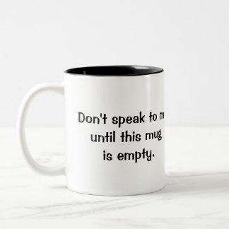 Engraçado não me fale a caneca de café de 11 onças