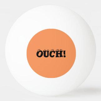 """Engraçado """"ouch!"""" Bola de Pong da laranja e do"""