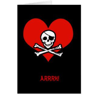Engraçado pirateie-me cartão dos namorados de