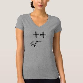 Engraçado preto e cinzento da cara dos desenhos camiseta