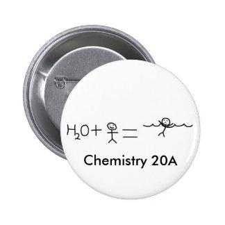 engraçado, química 20A Bóton Redondo 5.08cm