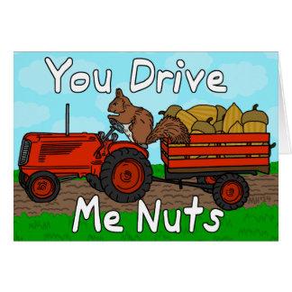 Engraçado você conduz-me namorados da chalaça do cartão comemorativo