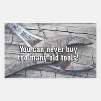Engraçado você pode nunca comprar ferramentas adesivo retangular