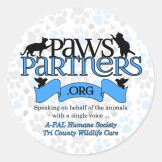 engrenagem do logotipo de PawsPartners.org Adesivo