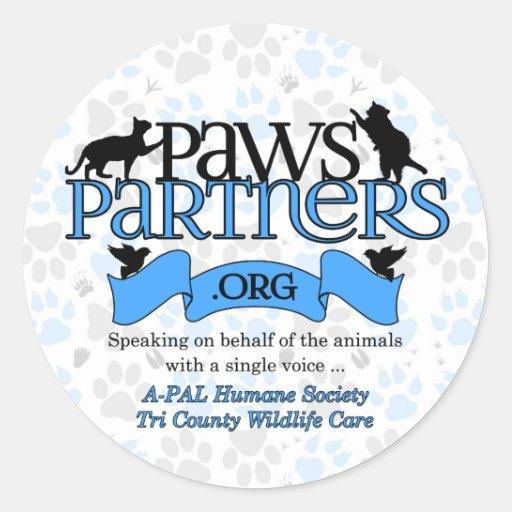engrenagem do logotipo de PawsPartners.org Adesivos Redondos