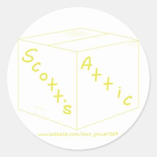 Engrenagem do logotipo do sótão de Scott Adesivo