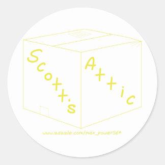 Engrenagem do logotipo do sótão de Scott Adesivos Redondos