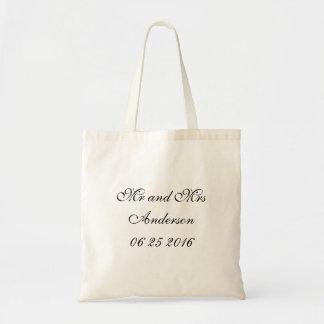 Engrenagem | dos noivos que Wedding Sacola Tote Budget