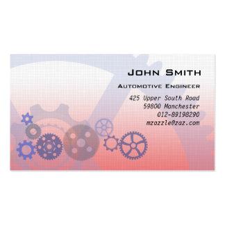 Engrenagens mecânicas vermelhas cartão de visita