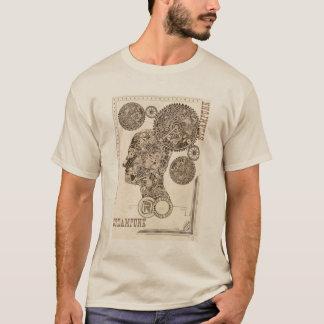 Engrenagens na mente camiseta