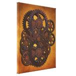 Engrenagens oxidadas de Steampunk Impressão Em Tela Canvas