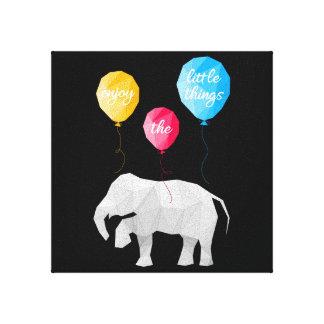 Enjoy elephant the little things canvas art