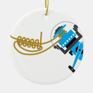 Enrole uni o nó para o diagrama de giro do vetor ornamento de cerâmica