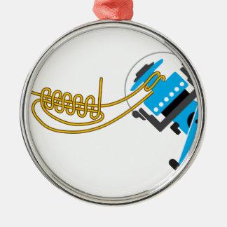 Enrole uni o nó para o diagrama de giro do vetor ornamento de metal