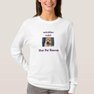 Enrugamentos 4 nós! Camisa de Shar Pei