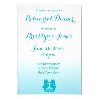 Ensaio azul branco Invitions do casamento do Convite 12.7 X 17.78cm