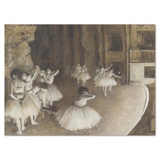 Ensaio do balé no palco por Edgar Degas Papel De Seda