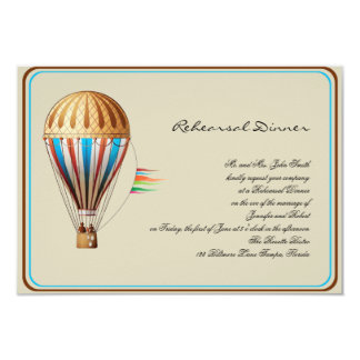 Ensaio do casamento do balão de ar quente do convite 8.89 x 12.7cm