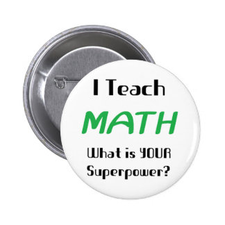 Ensine a matemática bóton redondo 5.08cm